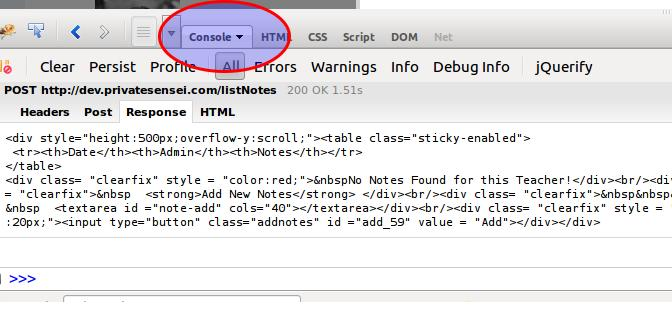Debugging Tips: How to debug AJAX requests using Mozilla Firefox and