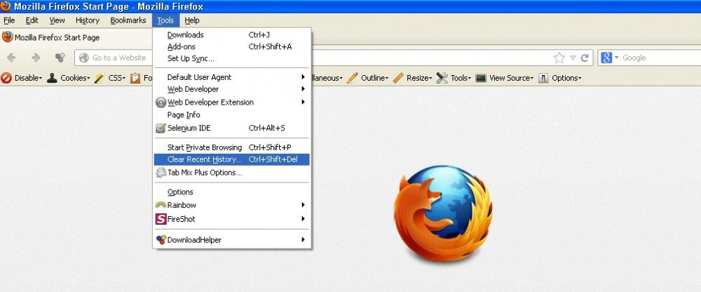 How to clear cache on various browsers and their key board