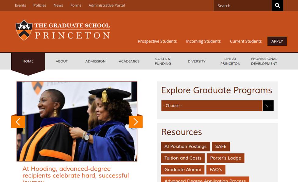 Princeton University website
